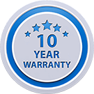 10 Year Warranty on All of Our Work